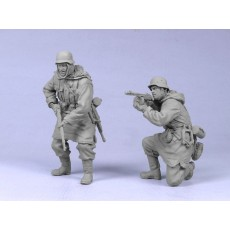 German infantry SS №5. Kharkow,winter 1943. Two figures.