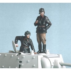 Soviet tank crew.  Summer 1941.  Two figures.