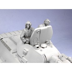 Soviet tank crew.  Winter 1941-42.  Two figures.