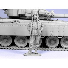 Russian modern tank officer.  Chechniya 1994-2005.  One figure.