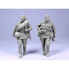 Red Army men with Degtiarev M.G.  Summer 1941.  Two figures.