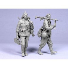 """Barbarossa"" №2.  German machinegunner and infantryman. Two fig ."