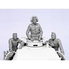 German tank crew №2.  Summer 1935-44.  Three figures.