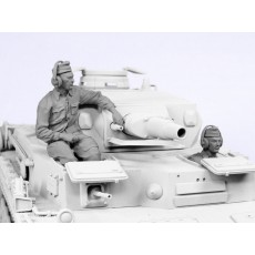 German tank crew D. A. K.  1941.  Two figures.
