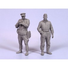 Soviet officers, tankman and infantryman.  Summer 1941-45.  Two figures.