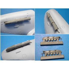 Spitfire Mk.V exhaust pipes (Airfix kit)