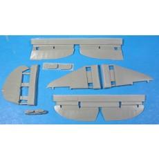 La-5 corrected control surfaces